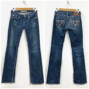 Big Star Dark Ultra-low Rise Sweet Bootcut Jeans